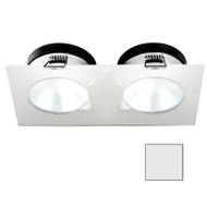 i2Systems Apeiron A1110Z - 4.5W Spring Mount Light - Double Round - Cool White - White Finish [A1110Z-35AAH]