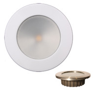 Lunasea Gen3 Warm White, RGBW Full Color 3.5 IP65 Recessed Light w\/White Stainless Steel Bezel - 12VDC [LLB-46RG-3A-WH]