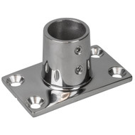 "Sea-Dog Rail Base Fitting Rectangular Base 90 316 Stainless Steel - 1-7\/8"" x 3-3\/16"" - 1"" OD [281901-1]"