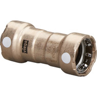 """Viega MegaPress 3\/4"""" Copper Nickel Coupling w\/Stop Double Press Connection - Smart Connect Technology [88385]"""