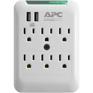 APC PE6WU2 Essential SurgeArrest 6-Outlet Wall Tap with 2 USB Charging Ports