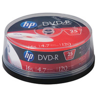 HP DM16025CB 4.7GB 16x DVD-R (25-ct Cake Box Spindle)