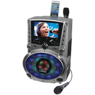 "Karaoke USA GF758 DVD/CD+G/MP3+G Bluetooth Karaoke System with 7"" TFT Color Screen & LED Sync Lights"