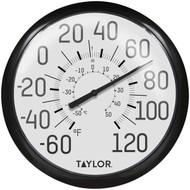 Taylor Precision Products 6700 13.25-Inch Big and Bold Dial Outdoor Thermometer