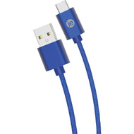 iEssentials IEN-BC10C-BL Charge & Sync Braided USB-C to USB-A Cable, 10ft (Blue)