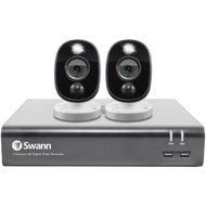 Swann SWDVK-445802WL-US 1080p Full HD Surveillance System Kit with 4-Channel 1 TB DVR and Two 1080p Cameras