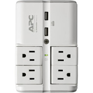 APC PE4WRU3 Essential SurgeArrest 4-Rotating-Outlets Wall Tap with 2 USB Charging Ports