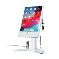 CTA Digital PAD-ASKW10 Dual Security Kiosk Stand with Locking Case and Cable for 10.2-Inch iPad (White)