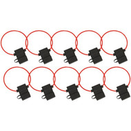 Install Bay ATFH14C-10 ATC Fuse Holder with Cover, 10 pk (14 Gauge)