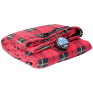 MAXSA Innovations 20014 Comfy Cruise 12-Volt Heated Travel Blanket (Red Plaid)