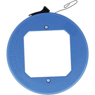 IDEAL 31-012 Blued-Steel Fish Tape with Formed Hook and Thumb Winder Case, 25 Feet