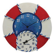 Taylor Precision Products 91417T 14-Inch Life Preserver Clock with Thermometer
