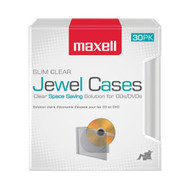 Maxell 190159 Clear Jewel Cases, 30 Pack