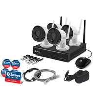 Swann SWNVK-490KH4-US 490 Series 1080p Wi-Fi Surveillance System Kit with 1 TB NVR and 4 Cameras