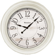 Westclox 32213AW-20 20-Inch Antique White Farmhouse Wall Clock