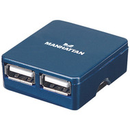 Manhattan 160605 4-Port High-Speed USB Micro Hub