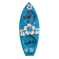Taylor Precision Products 92926T4 12-Inch Surfboard Clock with Thermometer