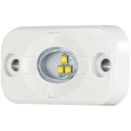 Heise LED Lighting Systems HE-ML1 1.5-Inch by 3-Inch Marine Aux Lighting Pod (White)