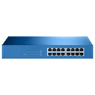 Aigean 16-Port Network Switch Desk or Rack Mountable - 100-240VAC - 50\/60Hz [NS-16]