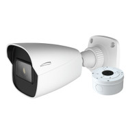Speco 4MP H.265 AI Bullet Camera 2.8mm Lens - White Housing w\/Included Junction Box (Power Over Ethernet) [O4B6]