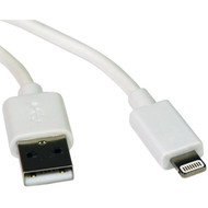 Tripp Lite M100-006-WH Charge & Sync USB Cable with Lightning Connector, 6 Feet