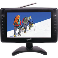 """Supersonic SC-2810 10"""" Portable LCD TV, AC/DC Compatible with RV/Boat"""