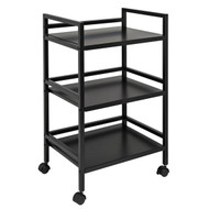 Honey-Can-Do CRT-03092 Metal Rolling Cart (Black)