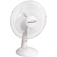 "brentwood__kool_zone F-12DW 12"" Oscillating Desk Fan"