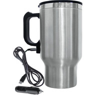 Brentwood Appliances CMB-16C 16-Ounce Stainless Steel Heated Travel Mug with 12-Volt Car Adapter