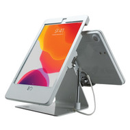 CTA Digital PAD-DSTW10 Security Dual-Tablet Kiosk Stand for iPad Air 3, iPad Pro 10.5, and iPad Gen 7 (White)