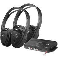 Power Acoustik HP-902RFT 2 Sets of 2-Channel RF 900MHz Wireless Headphones with Transmitter for Power Acoustik Mobile A/V Systems