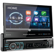 """Power Acoustik PD-721B 7"""" Incite Single-DIN In-Dash Motorized LCD Touchscreen DVD Receiver with Detachable Face & Bluetooth"""