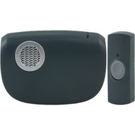GE 19240 8-Chime Battery-Operated Portable Door Chime with Wireless Push Button