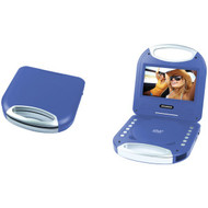 """SYLVANIA SDVD7049-BLUE 7"""" Portable DVD Player with Integrated Handle (Blue)"""