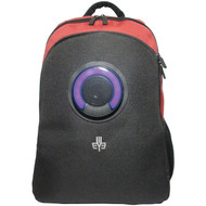 3Eye 3EYE-RED Backpack with Bluetooth Speaker (Red)