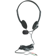 Manhattan 164429 Stereo Headset with Microphone & In-Line Volume Control
