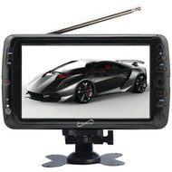 """Supersonic SC-195 7"""" TFT Portable Digital LCD TV, AC/DC Compatible with RV/Boat"""