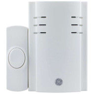 GE 19298 2-Chime Plug-in Door Chime with Wireless Push Button