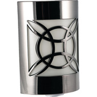 GE 11358 Auto Geometric Faux Nickel LED CoverLite Night-Light