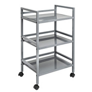 Honey-Can-Do CRT-03091 Metal Rolling Cart (Gray)