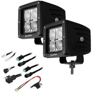 "Heise LED Lighting Systems HE-CL22PK 4-LED LED Cube Light Kit with 1 Pair of 3"" Lights"