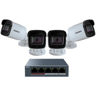 Uniden UC4400 1080p Outdoor Security Cloud System with 5-Port PoE Switch (4 Cameras)