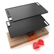 NutriChef NCCIRG59 18-Inch Cast Iron Reversible Grill Plate