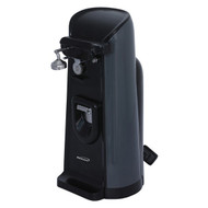 Brentwood Appliances J-30B Tall Electric Can Opener with Knife Sharpener and Bottle Opener