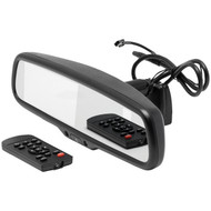 """CrimeStopper MIR-ACT MIR-ACT 4.3"""" Universal Rearview Mirror with Built-in Compass & Temperature Display"""