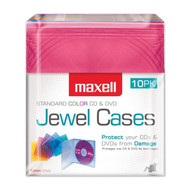 Maxell 190072 Jewel Cases, 10 Pack