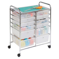 Honey-Can-Do CRT-01683 12-Drawer Rolling Storage Craft Cart and Organizer