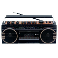 Supersonic SC-3202BT 3 Band Radio with Bluetooth and Cassette Recorder