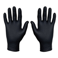 Sysco 4685621 Nitrile Food Service Gloves, 100 Count (Extra Large, Black)
