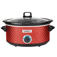 BS Slow Cooker Quilted 7qt Red